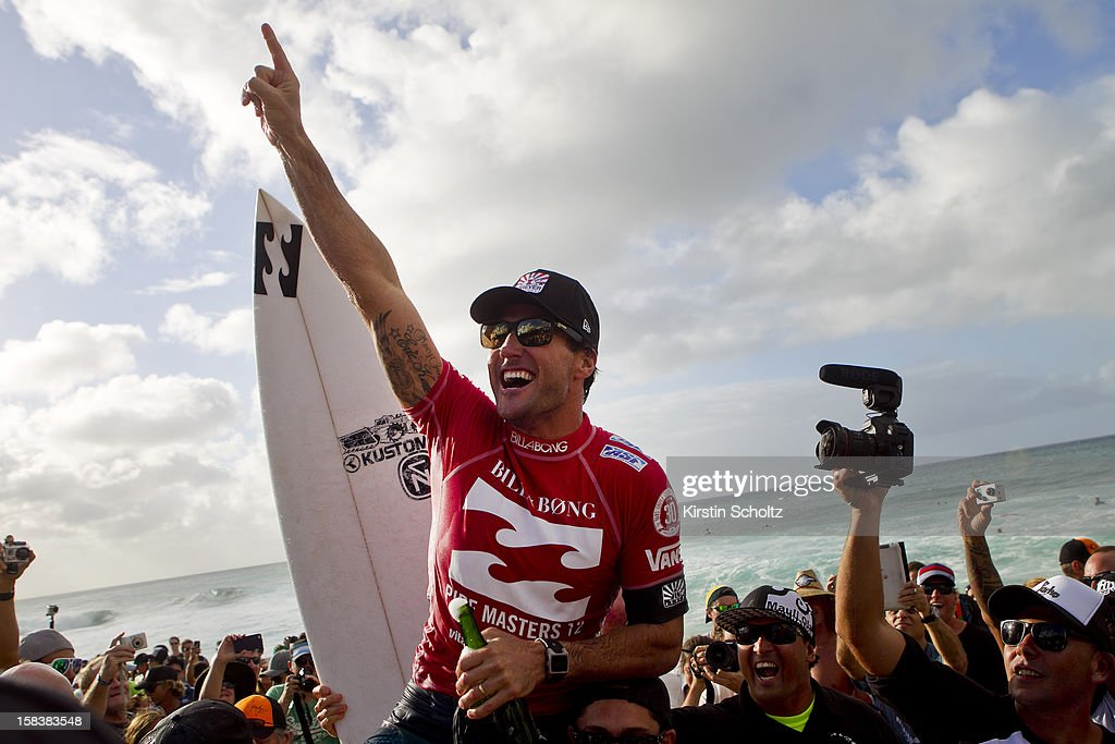 <a gi-track='captionPersonalityLinkClicked' href=/galleries/search?phrase=Joel+Parkinson&family=editorial&specificpeople=234875 ng-click='$event.stopPropagation()'>Joel Parkinson</a> of Australia celebrates his first ASP World Title and Billabong Pipe Masters victory December 14, 2012 in North Shore, Hawaii.