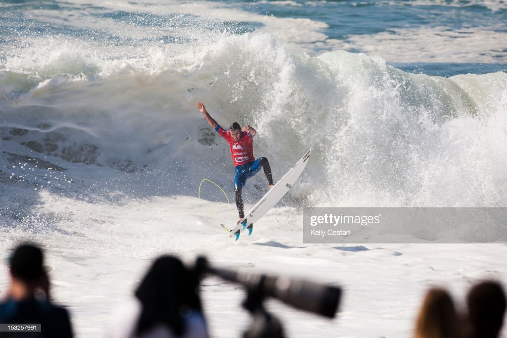 <a gi-track='captionPersonalityLinkClicked' href=/galleries/search?phrase=Joel+Parkinson&family=editorial&specificpeople=234875 ng-click='$event.stopPropagation()'>Joel Parkinson</a> of Australia explodes out of the barrel during Round 2 of the Quiksilver Pro France on October 2, 2012 in Hossegor, France.