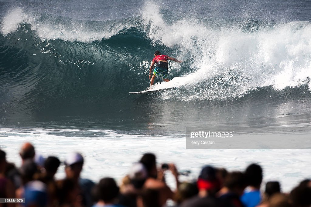 <a gi-track='captionPersonalityLinkClicked' href=/galleries/search?phrase=Joel+Parkinson&family=editorial&specificpeople=234875 ng-click='$event.stopPropagation()'>Joel Parkinson</a> of Australia was crowned the 2012 ASP World Champion and the 2012 Billabong Pipe Masters champion at Pipeline on December 14, 2012 in North Shore, United States.