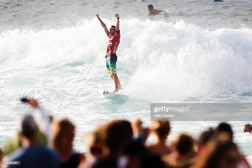 Joel Parkinson of Australia was crowned the 2012 ASP World Champion and won the Billabong Pipe Masters at Pipeline on December 14, 2012 in North Shore, United States.
