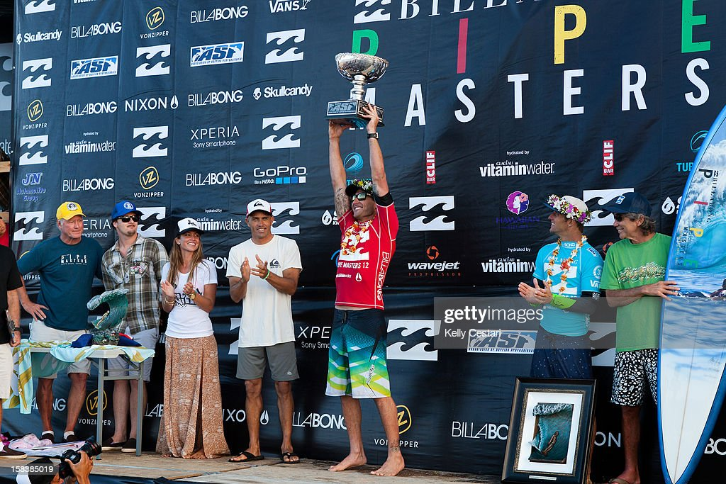 <a gi-track='captionPersonalityLinkClicked' href=/galleries/search?phrase=Joel+Parkinson&family=editorial&specificpeople=234875 ng-click='$event.stopPropagation()'>Joel Parkinson</a> of Australia was crowned the ASP World Champion at the Billabong Pipe Masters in Memory of Andy Irons at Pipeline on December 14, 2012 in North Shore, United States.