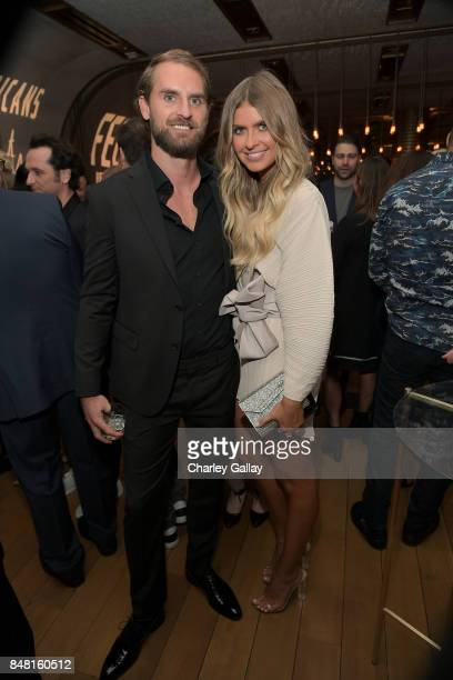 Joel Patfull and Elle Ferguson attend FX Networks celebration of their Emmy nominees in partnership with Vanity Fair at Craft on September 16 2017 in...