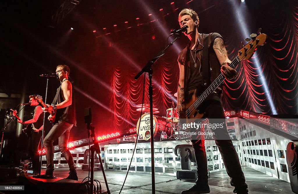<a gi-track='captionPersonalityLinkClicked' href=/galleries/search?phrase=Joel+Peat&family=editorial&specificpeople=7078660 ng-click='$event.stopPropagation()'>Joel Peat</a>, Andy Brown, <a gi-track='captionPersonalityLinkClicked' href=/galleries/search?phrase=Adam+Pitts&family=editorial&specificpeople=7078662 ng-click='$event.stopPropagation()'>Adam Pitts</a> and Ryan Fletcher of Lawson perform on stage at The Roundhouse on October 12, 2013 in London, England.