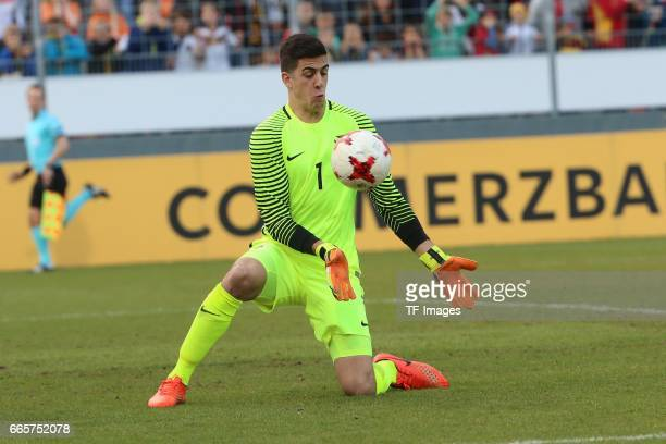 Joel Pereira in action during the International Friendly match between Germany U21 and Portugal U21 at GaziStadion on March 28 2017 in Stuttgart...