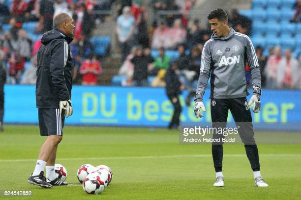 Joel Pereira of Manchester United before the game against Valerenga today at Ullevaal Stadion on July 30 2017 in Oslo Norway