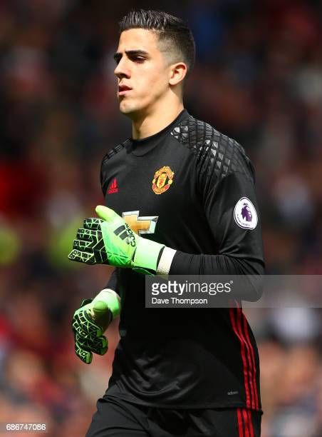 Joel Pereira of Manchester United during the Premier League match between Manchester United and Crystal Palace at Old Trafford on May 21 2017 in...