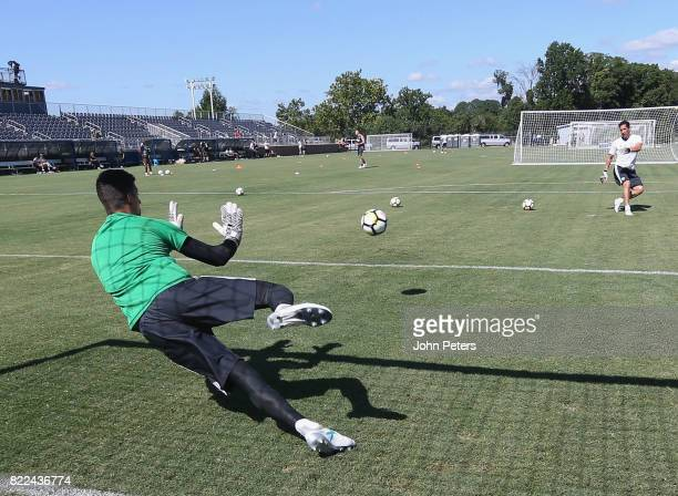 Joel Pereira of Manchester United in action during a first team training session as part of their preseason tour of the USA on July 25 2017 in...