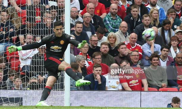 Joel Pereira of Manchester United in action during the Premier League match between Manchester United and Crystal Palace at Old Trafford on May 21...