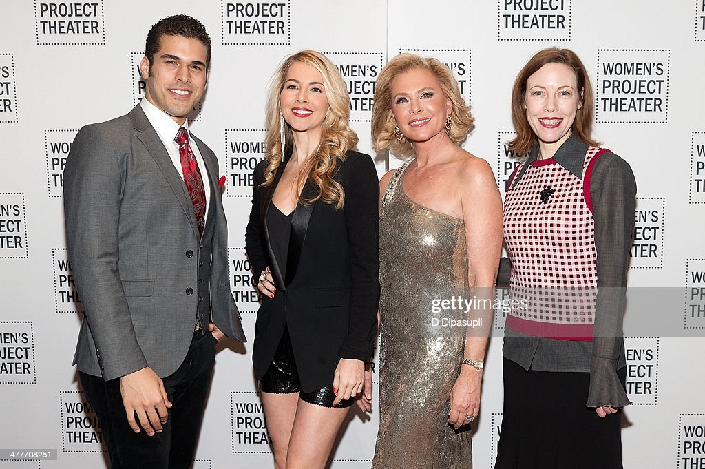 Joel Perez, Morgan James, Pamela Morgan, and Veanne Cox attend the Women Project Theater's 2014 Women Of Achievement Gala at the Mandarin Oriental Hotel on March 10, 2014 in New York City.