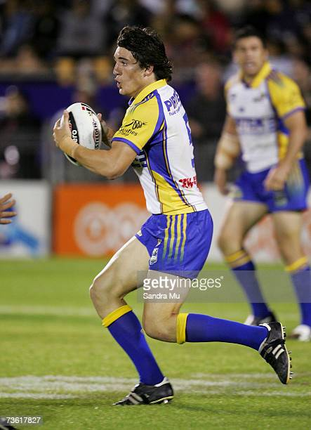 Joel Reddy of Paramatta in action during the round one NRL match between the Warriors and the Parramatta Eels at Mount Smart Stadium March 17 2007 in...