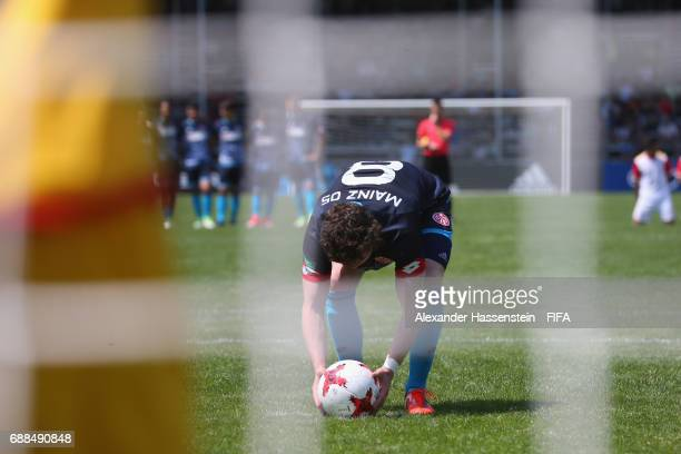 Joel Richter of Mainz 05 prepares for a penalty against Santa Fe duirng the penalty shot out af the match between Santa fe and Mainz 05 on day two of...