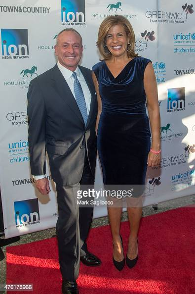 Joel Schiffman and TV Personality Hoda Kotb attends the Greenwich International Film Festival's Changemaker Gala at L'Escale Restaurant on June 6...