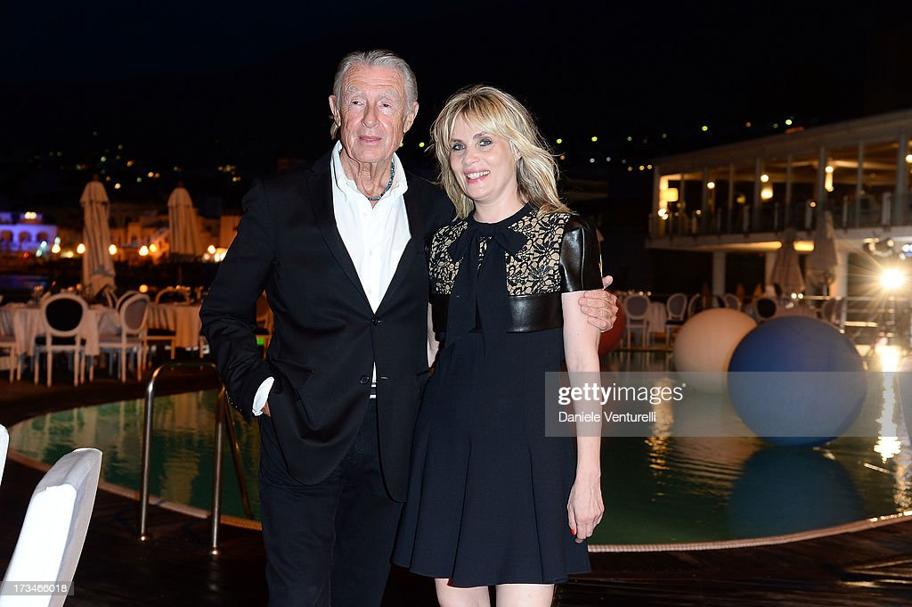 Joel Schumacher and Emmanuelle Seigner attend Day 2 of the 2013 Ischia Global Fest on July 14, 2013 in Ischia, Italy.