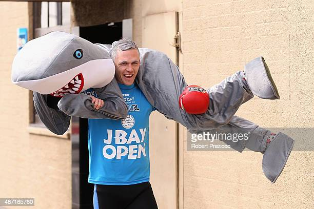 Joel Selwood arrives ahead of Geelong Cats AFL postseason celebrations at the Lord of the Isles Hotel on September 7 2015 in Geelong Australia
