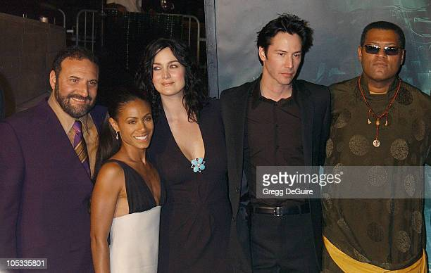 Joel Silver Jada Pinkett Smith CarrieAnne Moss Keanu Reeves and Laurence Fishburne