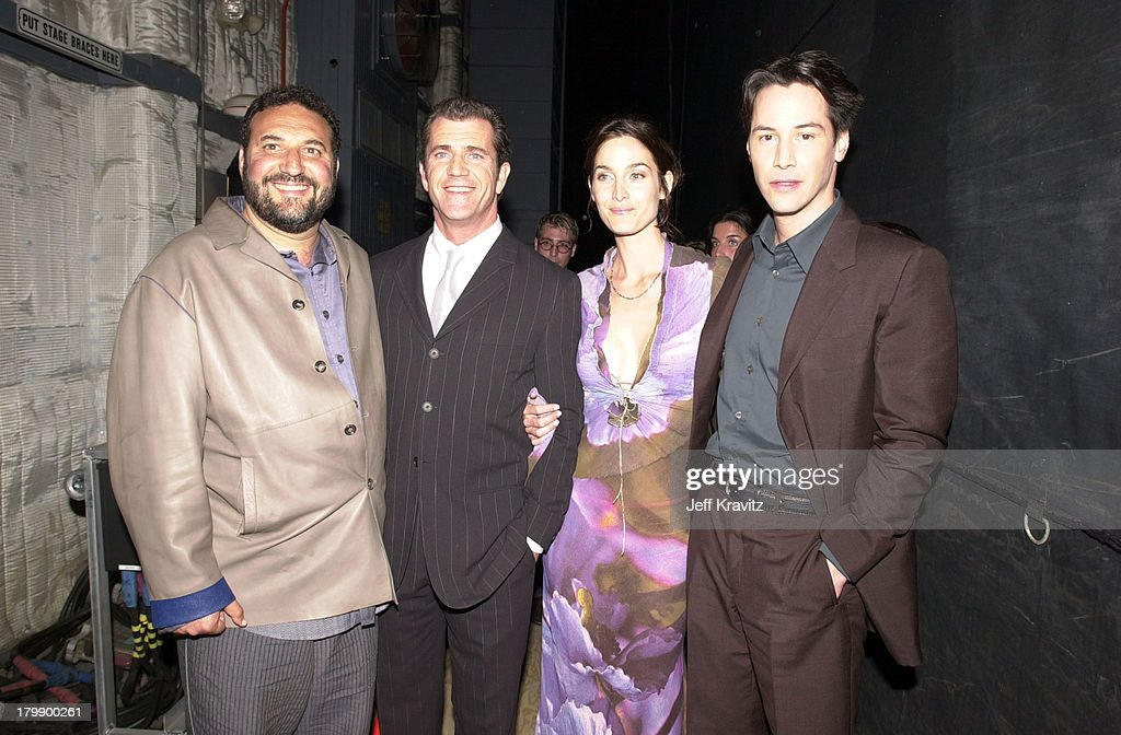 <a gi-track='captionPersonalityLinkClicked' href=/galleries/search?phrase=Joel+Silver&family=editorial&specificpeople=216426 ng-click='$event.stopPropagation()'>Joel Silver</a>, <a gi-track='captionPersonalityLinkClicked' href=/galleries/search?phrase=Mel+Gibson&family=editorial&specificpeople=201512 ng-click='$event.stopPropagation()'>Mel Gibson</a>, Carrie Ann Moss and <a gi-track='captionPersonalityLinkClicked' href=/galleries/search?phrase=Keanu+Reeves&family=editorial&specificpeople=171568 ng-click='$event.stopPropagation()'>Keanu Reeves</a>