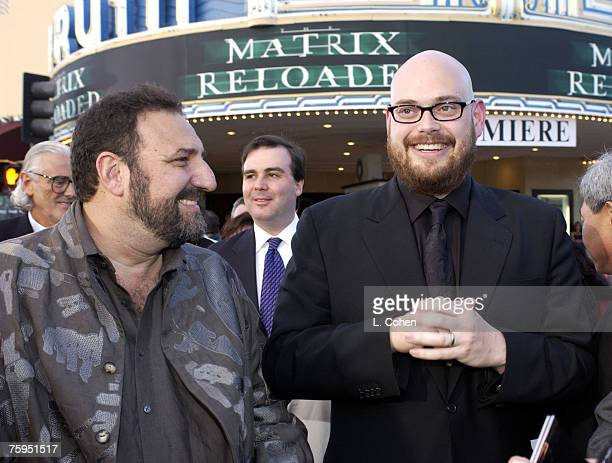 Joel Silver producer and Andy Wachowski of The Wachowski Brothers cowriter/codirector