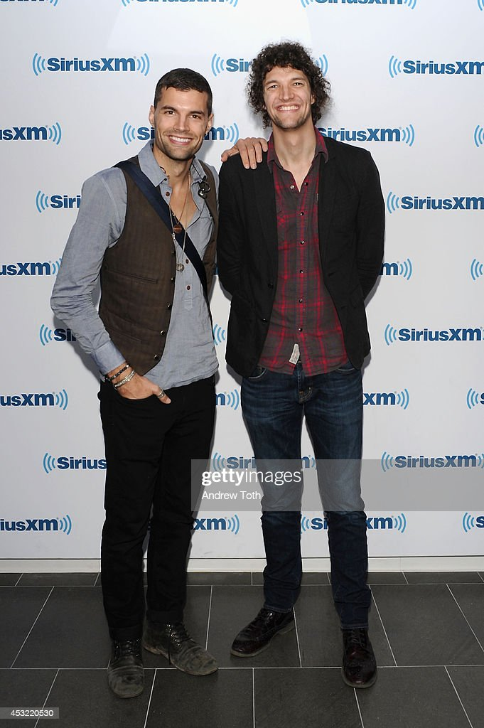Joel Smallbone (L) and Luke Smallbone of band For King & Country visit SiriusXM Studios on August 5, 2014 in New York City.