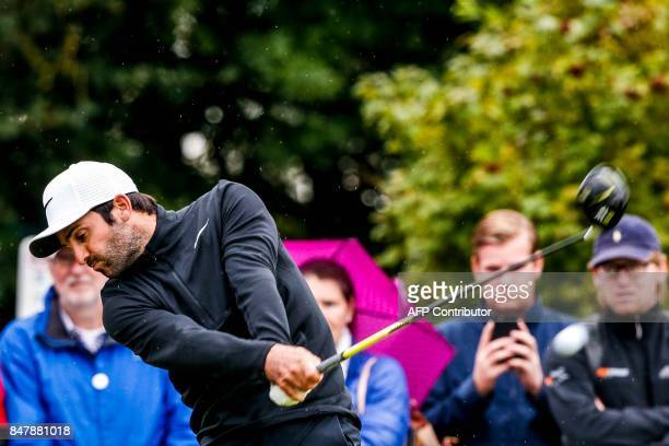 Joel Stalter of France competes during the third day of the KLM Open golf tournament in Spijk on September 16 2017 / AFP PHOTO / ANP / Ronald Speijer...