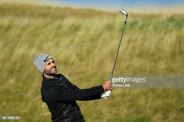 Joel Stalter of France in action during day one of the 2017 Alfred Dunhill Championship at Kingsbarns on October 5 2017 in St Andrews Scotland