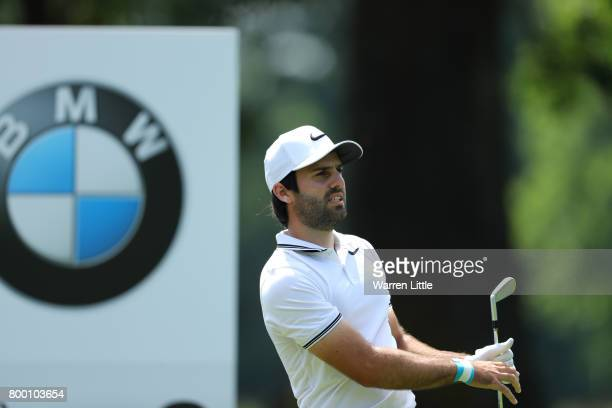 Joel Stalter of France looks down the 2nd hole during day two of the BMW International Open at Golfclub Munchen Eichenried on June 23 2017 in Munich...