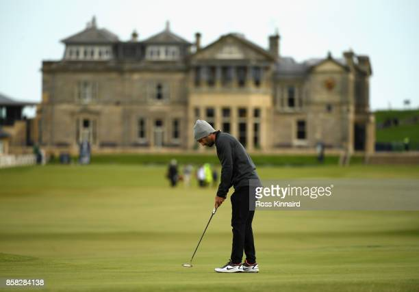 Joel Stalter putts on the 17th during day two of the 2017 Alfred Dunhill Championship at The Old Course on October 6 2017 in St Andrews Scotland
