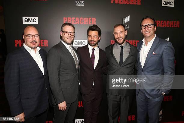 Joel Stillerman AMC's president of original programming executive producer Seth Rogen actor Dominic Cooper executive producer Evan Goldberg and AMC...