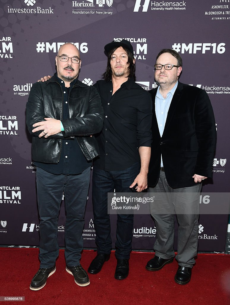 Joel Stillerman, Norman Reedus and Executive Director, MFF Tom Hall arrive at the Montclair Film Festival 2016 on May 7, 2016 in Montclair City.