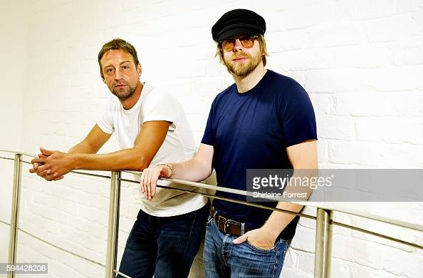 Joel Stoker and Lucas Crowther of The Rifles pose backstage after performing live and meeting fans to celebrate the launch of their album 'Big Life'...