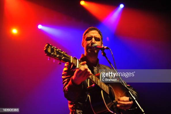 Joel Stoker of The Rifles performs on stage at O2 Shepherd's Bush Empire on March 17 2013 in London England
