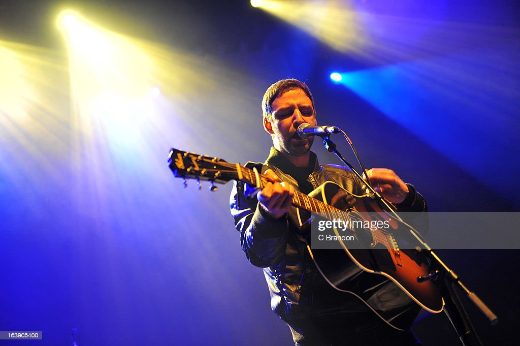 Joel Stoker of The Rifles performs on stage at O2 Shepherd's Bush Empire on March 17, 2013 in London, England.