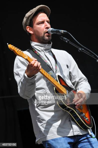 Joel Stoker of The Rifles performs on stage at the V Festival at Hylands Park on August 16 2014 in Chelmsford United Kingdom