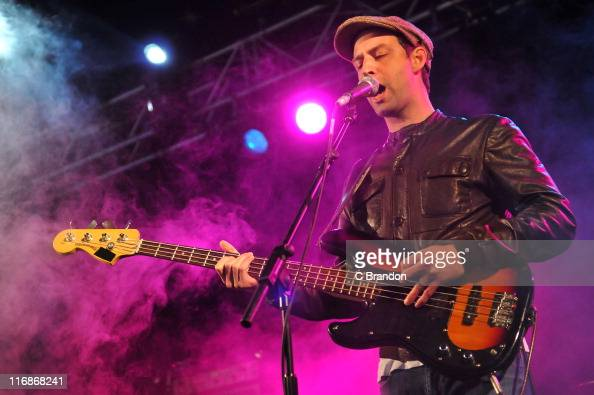 Joel Stoker of The Rifles performs on stage during Get Loaded In The Park at Clapham Common on June 12 2011 in London United Kingdom