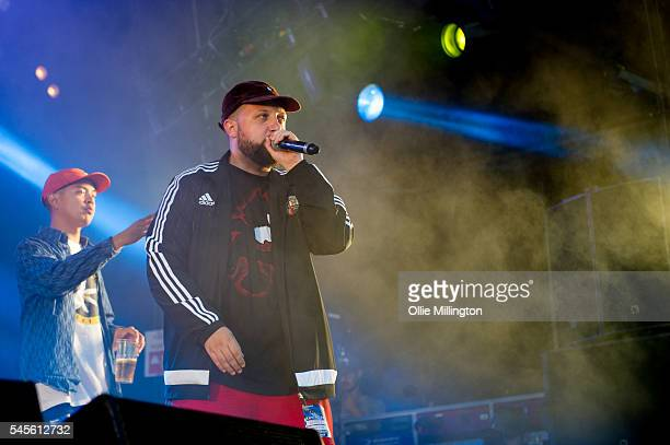 Joel Tiddy performs in character as Weapon X and Hugo Chegwin performs in character as Kevin 'DJ Beats' Bates of Kurupt FM from the hit BBC British...