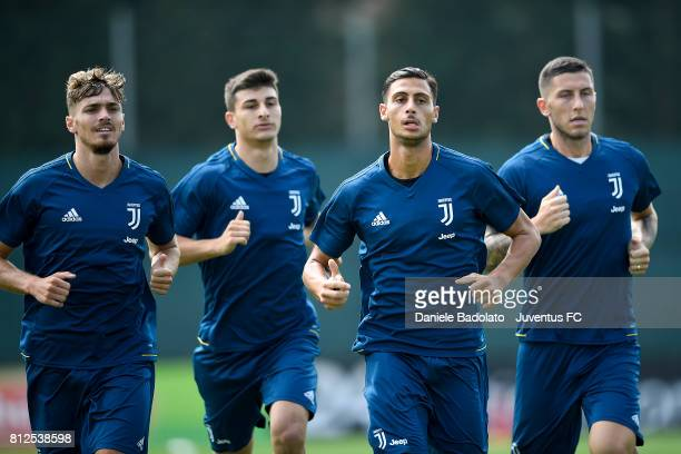Joel Untersee Rolando Mandragora of Juventus during the morining training session on July 11 2017 in Vinovo Italy