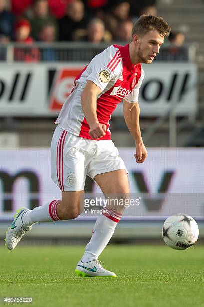 Joel Veltman of Ajax during the Dutch Eredivisie match between Excelsior Rotterdam and Ajax Amsterdam at Woudenstein stadium on December 21 2014 in...
