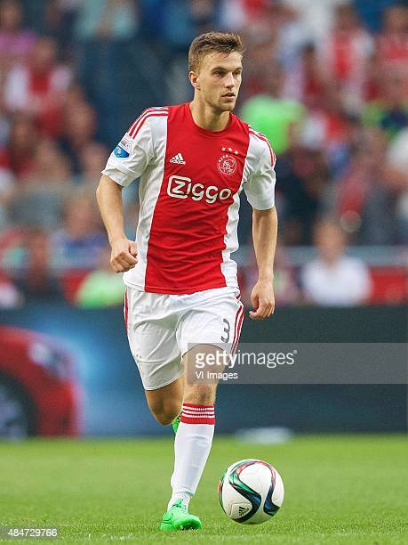 Joel Veltman of Ajax during the Europa League playoffs match between Ajax and FK Jablonec on August 20 2015 at the Amsterdam Arena Stadium in...