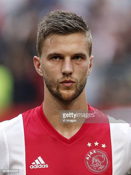 Joel Veltman of Ajax during the UEFA Champions League Third qualifying round first leg match between Ajax Amsterdam and PAOK Saloniki on July 26 2016...