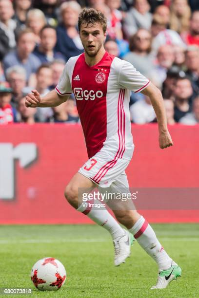 Joel Veltman of Ajaxduring the Dutch Eredivisie match between Ajax Amsterdam and Go Ahead Eagles at the Amsterdam Arena on May 07 2017 in Amsterdam...