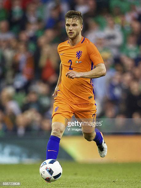 Joel Veltman of Holland during the International friendly match betwen Republic of Ireland and Netherlands on May 27 2016 at the Aviva stadium in...
