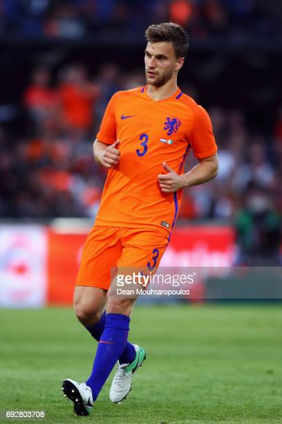 Joel Veltman of the Netherlands in action during the International Friendly match between the Netherlands and Ivory Coast held at De Kuip or Stadion...