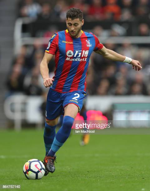 Joel Ward of Crystal Palace controls the ball during the Premier League match between Newcastle United and Crystal Palace at St James Park on October...