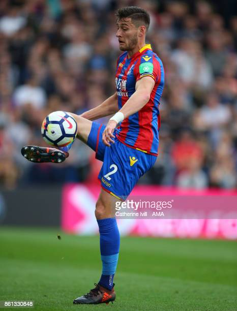 Joel Ward of Crystal Palace during the Premier League match between Crystal Palace and Chelsea at Selhurst Park on October 14 2017 in London England