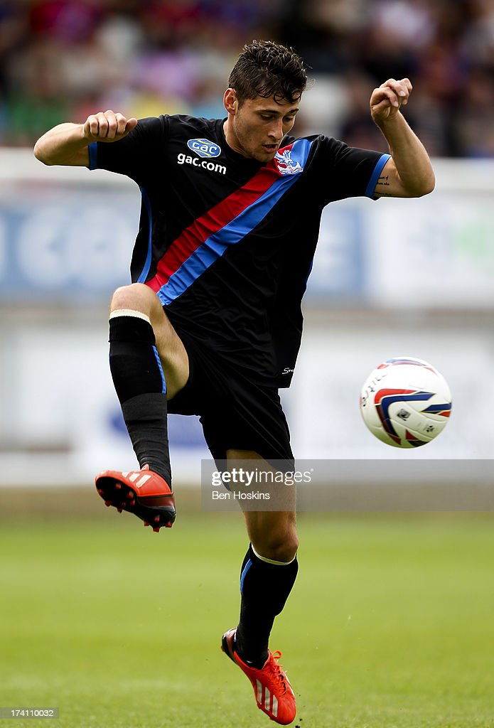 Joel Ward of Crystal Palace in action during a pre season friendly match between Dagenham and Redbridge and Crystal Palace at The London Borough of Barking and Dagenham Stadium on July 20, 2013 in Dagenhm, England.