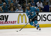 Joel Ward of the San Jose Sharks in action against the Los Angeles Kings in Game Four of the Western Conference First Round during the NHL 2016...