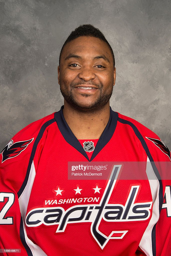 Joel Ward #42 of the Washington Capitals poses for his official headshot for the 2012-2013 season on January 12, 2013 at the Kettler Capitals Iceplex in Arlington, Virginia.