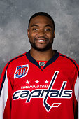 Joel Ward of the Washington Capitals poses for his official headshot for the 20142015 season on September 18 2014 at the Kettler Capitals Iceplex in...