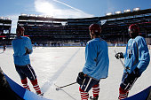 Joel Ward of the Washington Capitals skates with teammates during practice day prior to the 2015 Bridgestone NHL Winter Classic on December 31 2014...