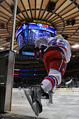 Joel Ward of the Washington Capitals takes the ice before playing against the New York Rangers in Game Seven of the Eastern Conference Semifinals...