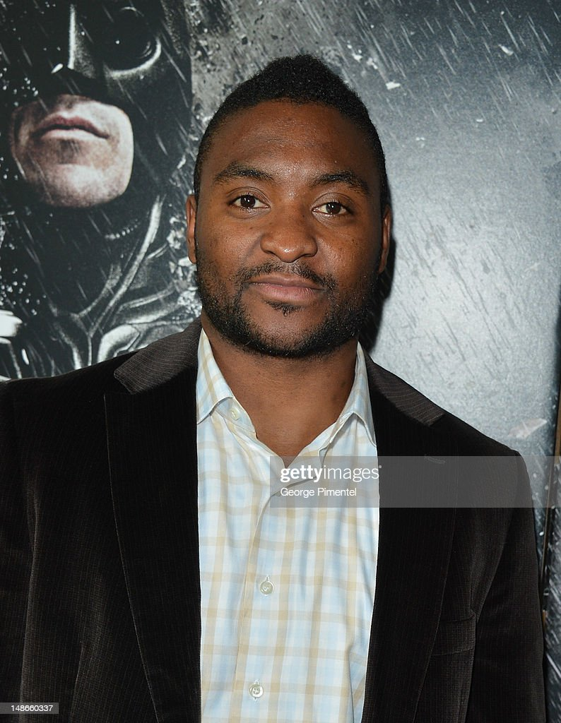 Joel Ward Washington Capitals hockey player attends the after party for The Canadian Premiere of 'The Dark Knight Rises' at Scotiabank on July 18, 2012 in Toronto, Canada.